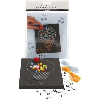 Mini kit creativo, cono gelato, 1 set