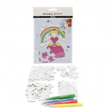 Mini kit creativo, principessa, bianco, 1 set
