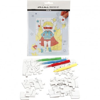 Mini kit creativo, supereroe, bianco, 1 set