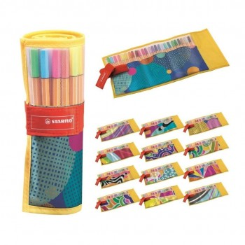 Pennarelli fineliner stabilo point 88. Rollerset just like you 25 colori