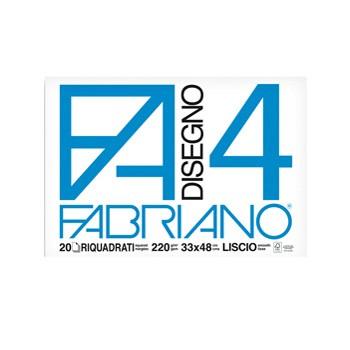 Album blocco Fabriano4 33x48cm 220gr 20fg liscio riquadrato