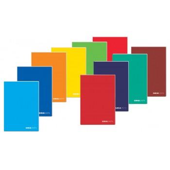 Quadernone maxi brossurato 96 fogli 90 gr rigatura 1r colori assortiti