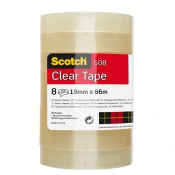 Rotolo nastro adesivo Scotch 3M 508 19mm x 66mt in ppl