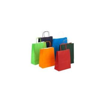 Shopper in carta con manico colori assortiti 16x8x21 cm