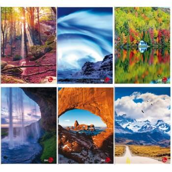 Maxi quaderno A4 4mm fantasie Paesaggi
