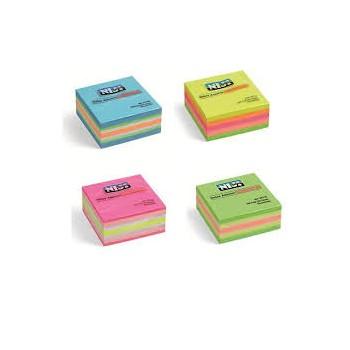 Blocchetto fogli adesivi riposizionabili 50x 50mm colori assortiti 250fogli