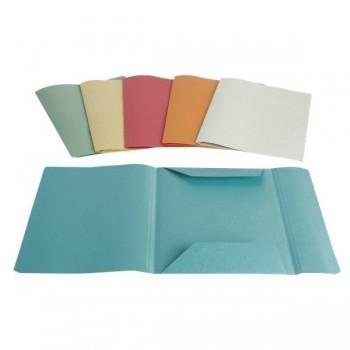 Cartelline 3 lembi senza stampa cf 50 pz colore verde
