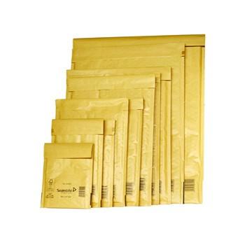 Busta imbottita gold b 12x21cm utile avana