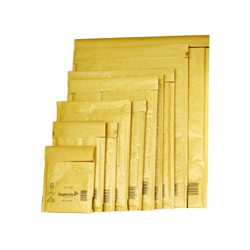 Busta imbottita gold c 15x21cm utile avana