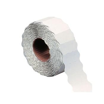 Rotolo 1000 etichette prezzatrice 26x12mm onda bianco permanente