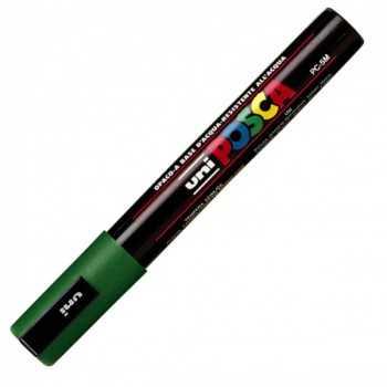 Marcatore uni posca pc5m p.media 1,8-2,5mm verde