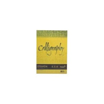 Carta calligraphy pergamena 190gr a4 50fg oro 03 favini