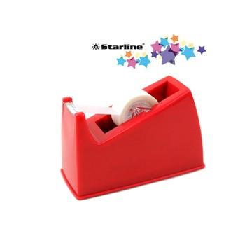 Dispenser da banco per nastri 33mt rosso starline